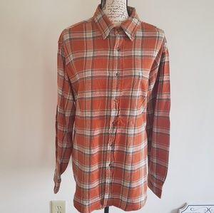 Mens Croft & Borrow flannel button down shirt